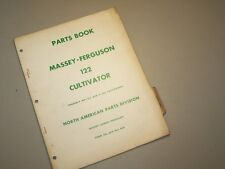 MF 122 FIELD CULTIVATOR for MASSEY FERGUSON TRACTOR PARTS BOOK MANUAL CATALOG