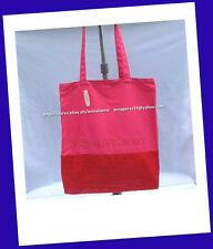 60% OFF+FREE VS PANTY! VICTORIA'S SECRET PINK/RED CANVAS TOTE BAG BNWT $ 58+!