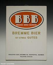 Kalenderrückwand BREMME BRÄU BARMEN um 1955