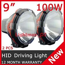 2 PCS 100W 9 Inch HID XENON DRIVING LIGHT SPOT BEAM OFF ROAD LAMP OFFROAD LIGHT