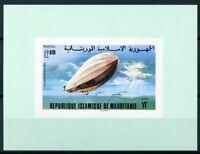 451151) Mauretanien Block mit Nr. 541 B **, Zeppelin