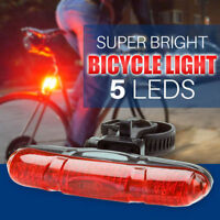 NEW 5 LED Waterproof BIKE BICYCLE CYCLE RED REAR Back TAIL LIGHT LAMP Taillight