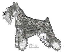 Iron-On Mini Schnauzer Patch embroidered applique Giant Standard Dog salt/pepper