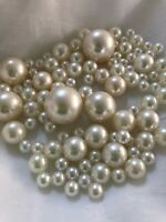 DIY Floating pearl decor Ivory pearl Vase Fillers 80pcs No Hole Pearls