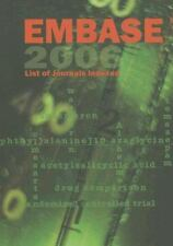 EMBASE List of Journals Indexed 2006 (2006, Paperback)