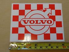 Volvo Rojo clásico a cuadros Volo Racing Bandera Decal Sticker