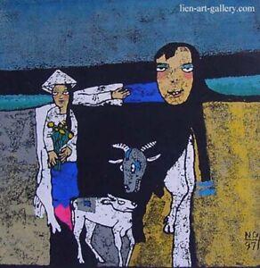 Girl Graphic painting Cuong van Nguyen  b1961  VUFA alumni &   paiters ...