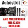 PC Bundle Kit Set ❤ AMD Athlon 3000G mit Grafik ✔ MSI A320M ✔ DDR4 8GB ✔