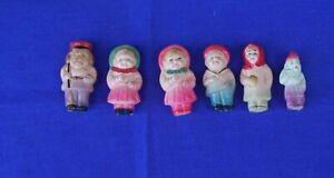 Vintage Celluloid Dolls x 6 Novelty Miniature Toys