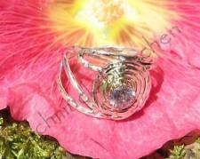 Ring Kunzit rosa in einer Spirale Sterling Silber 925
