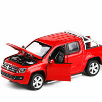 1:30 VW Amarok Pickup Truck Model Car Diecast Toy Vehicle Sound & Light Red Gift