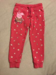 Girls Peppa Pig Leggings/ Tracksuit Bottoms Age 5-6 Years