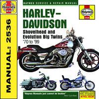 Harley Davidson FXD 1340 Softail Evolution EVO Shovelhead Haynes Manual 2536 NEW