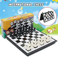 Magnetic Folding Chessboard International Chess Checkers Educational Set Kid Toy