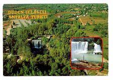Turkey Postcard Duden Selalesi Antalya Turkei Waterfall Aerial View Trees