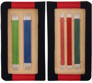 Knitpro Zing 15 cm double pointed knitting needle set. DPN sock knitting set.