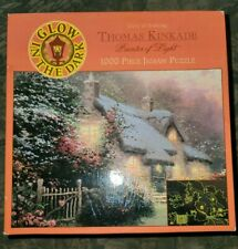 "Ceaco Puzzle, Thomas Kinkade ""Glory of Evening"", 1000 Pieces, Glow In Dark"