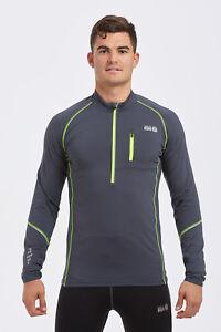 Men's Wicking Quick Dry Thermal Zip Neck Running Cycling Top Free UK P&P