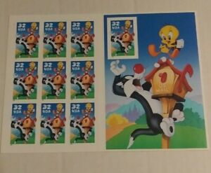 US #3204 SYLVESTER & TWEETY BIRD 1998 32c Stamp Sheet - MINT Never Hinged MNH