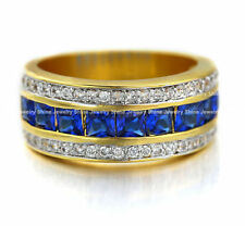 Copper Band Sapphire Fashion Rings