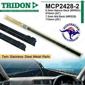 Combo Pair Tridon Metal Rail Wiper Refills for Honda Accord City Civic ES EU HRV