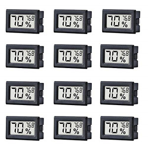 12 Pack Mini Small Digital Electronic Temperature Humidity Meters Gauge Indoor ℉