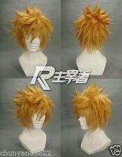 Kingdom Hearts Roxas Short Flip Out Golden Blonde Cosplay Wig