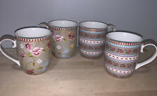 New listing Pip Studio Home Floral Collection 4 pc Khaki Small 5oz Mugs