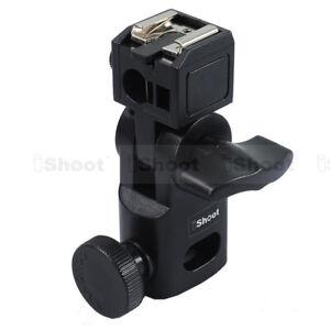Flash Bracket/Umbrella Holder-Metal Hot Shoe Mount-15.8mm Hole for Light Stand