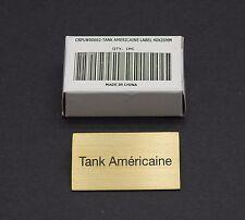 "ORIGINAL CARTIER ""TANK AMERICAINE"" DEALER'S PRESENTATION BRASS SIGN NEW"