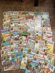 HIGHLIGHTS WHICH WAY USA? ~Lot of 46 Magazines Puzzle Books Homeschool (NO MAPS)