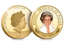 Princesse Diana 20th Anniversaire Plaqué Or Pièce Limited Tirage 19500 seulement COA
