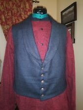 Civil War Era SASS Western Mens Wool Blend Vest   Size 38