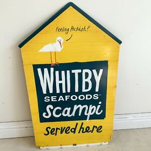 Whitby Seafoods Tin Sign Advertising Double Sided