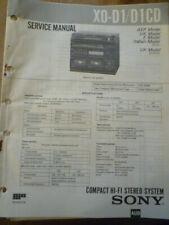 Sony XO-D1 /  XO-D1CD  Hi-Fi Stereo System  Service Manual