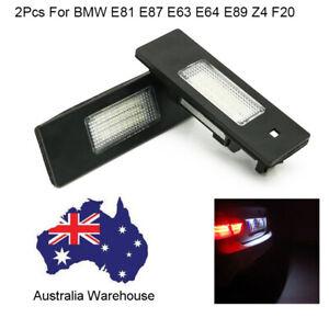 2Pcs For BMW E81 E87 E63 Vehicle Rear Number Led License Plate Light Auto Lamp