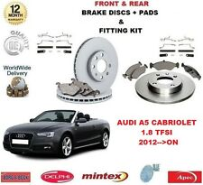FOR AUDI A5 CAB 1.8 TFSI 2012 >ON FRONT + REAR BRAKE DISCS & PADS + FITTING KIT