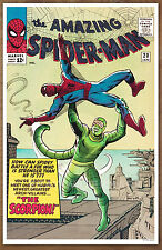 Amazing Spider Man #20 poster art print '92  Steve Ditko The Scorpion