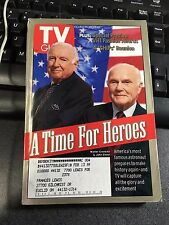 TV Guide A TIME FOR HEROES WALTER CRONKITE JOHN GLENN OCT 24 98 CLEVELAND OH