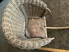 Baby Carriage Buggy Antique Doll Wicker Stroller