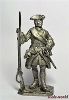 Tin toy soldier. Corporal of army infantry, 1708-20. Russia 54 mm