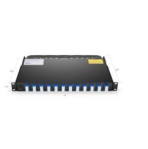 96 Fibers 12x MTP/MPO-8 to LC/UPC  SM 1U 40GB QSFP+ Breakout Patch Panel -90007