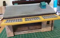 OO9 narrow gauge 4mm/ft handcrafted single road goods shed model building