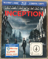 Inception (BLU-RAY + DVD) Brand New Sealed Includes Lenticular Slipcover