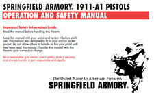 Springfield Armory 1911-A1 Pistol Owners Instruction and Maintenance Manual