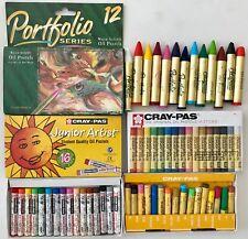 Lot 3 Boxes Artist Oil Pastels Sakura Cray-pas & Portfolio Series 1 New 2 Used