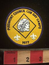 Vtg 1977 Native American Boy Scout Patch Piedmont Council Cub Day Camps S69S