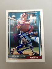 1992 Topps Darren Daulton Autographed signed Baseball Card