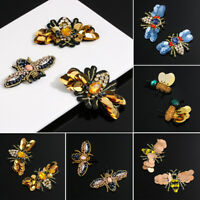 & Fabric Embroidery Sequin Patches Bee Badge Crystal Applique Sew on Patch