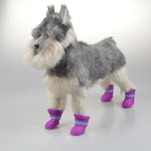 Dog Puppy Cat Anti-slip Waterproof Rubber Shoes Rain Boots M-XXL Small-Big Pets